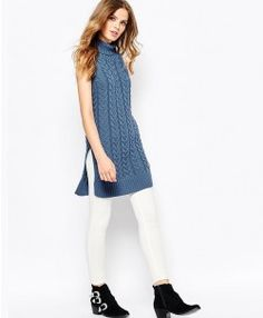 Cable Knit Sleeveless Sweater