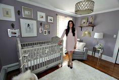 Trendy Baby Girl Nursery Purple And Grey Benjamin Moore Ideas Baby Bedroom, Baby Room Decor, Master Bedroom, Girl Nursery, Girl Room, Nursery Themes, Nursery Ideas, Room Ideas, New Baby Girls
