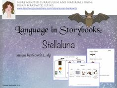 In this resource for Stellaluna you will find materials to hit target CCSS and… Speech Therapy Activities, Language Activities, Writing Activities, Shared Reading, Guided Reading, Phonological Awareness Activities, Stellaluna, Trade Books, Blooms Taxonomy