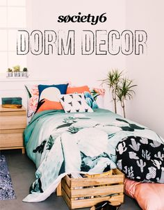 Society6 is your go-to for dorm room essentials. Shop Wall Tapestries, Comforters, Art Prints, Pillows, and more - all designed by independent artists.