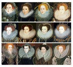 En Angleterre    L'Angleterre est le seul pays à partager les tendances originales de la mode française. Aux Pays-Bas, les portraits présentent une fraise de dimension plus mesurée.