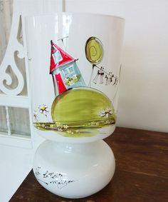 Lampe : : Maison  *** Produit peint à la main. Decoration, Tableware, Home, Painted Side Tables, Bed Reading Light, Hands, Decor, Dinnerware, Dishes