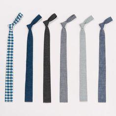 sexy square skinny ties. go for plaid.
