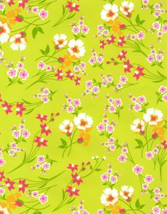 Patty Young Premium Quilt Fabric- Wildflowers Citron at Joann.com