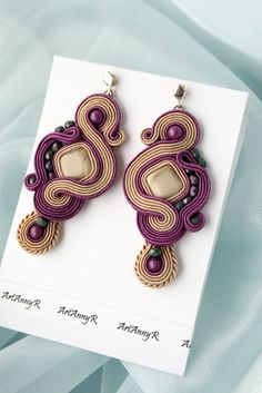 Etsy - Shop for handmade, vintage, custom, and unique gifts for everyone Soutache Earrings, Shibori, Jewelery, Fashion Jewelry, Jewelry Design, Beads, Crafts, Handmade, Vintage