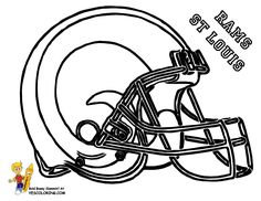 nfl rams football helmet coloring pages sketch coloring page