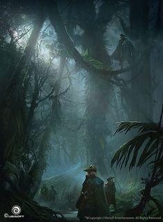 Assassin's Creed IV Black Flag Concept Art, Martin Deschambault on ArtStation at https://www.artstation.com/artwork/v95E