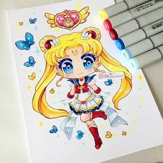 Chibi fanart of Super Sailor Moon! Sailor Moon has always been my favourite. Who is your favourite Sailor Moon character? #sailormoon #supersailormoon #sailormoonfanart #copicmarkers #copicart #copic #copics #traditionalart #fanart #chibi #kawaii #cute #chibiart #instaart #instaartist #paigeeworld #anime #manga
