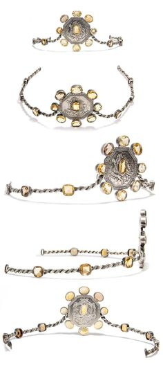 A facted citrine and silver tiara probably from Germany and remade for one of the younger members of a noble family.