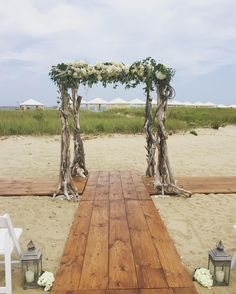 Seaside Wedding, Chuppah, Driftwood, Dining Table, Rustic, Instagram Posts, Home Decor, Country Primitive, Decoration Home