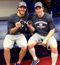 Prust and Gallagher after their first goals with Habs :)