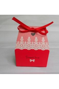 Sweet Love Square Favor Box (Set of 12)