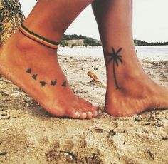 Wave and palm tree tattoo foot 64 Ideas Wave and palm tree tattoo foot 64 Ideas Tree Tattoo Foot, Palm Tree Tattoo Ankle, Ankle Tattoo Small, Foot Tatoos, Inside Ankle Tattoos, Palm Tree Tattoos, Bird Ankle Tattoo, Tattoo Placement Foot, Cute Ankle Tattoos
