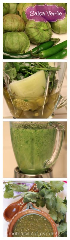 This salsa verde recipe, or green salsa recipe, also known as tomatillo salsa, is fast and easy and made like in Mexico. Recipe with photos. Authentic Salsa Verde Recipe, Easy Salsa Verde Recipe, Sauce Recipes, New Recipes, Cooking Recipes, Favorite Recipes, Mexican Cooking, Mexican Food Recipes, Green Salsa Recipes