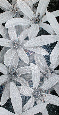 GLASS MOSAIC FLOWER POWER BY SICIS