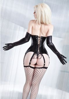 matching corset and gloves