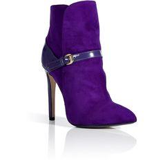 (LOP) Emilio Pucci Violet Patent/suede Ankle Boots in Purple (violet) - Lyst Suede Ankle Boots, Heeled Boots, Bootie Boots, Shoe Boots, Purple Ankle Boots, Ankle Booties, Emilio Pucci, Purple Shoes, Purple Fashion