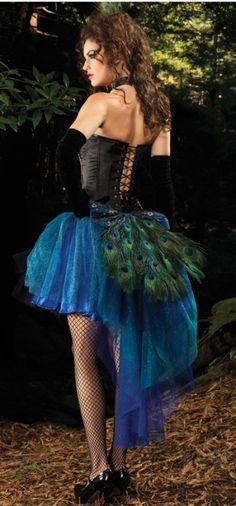 Peacock Costume - Adult Costumes www.shelbymason.com #bootightlove #sexyspooky #halloween