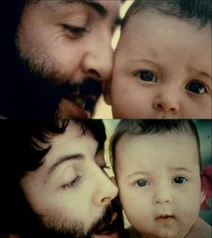 Paul McCartney and baby. IS THIS TOO MUCH TO ASK FOR? It's all i want in life really...