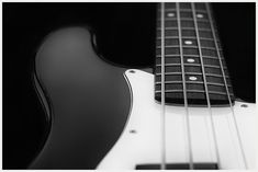Bass Guitar Photograph Black and White Photography 12 x by McAnany