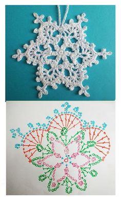 Crochet Snowflake Pattern, Crochet Stars, Crochet Snowflakes, Crochet Patterns, Diy Cleaning Products, Doilies, Diy And Crafts, Crochet Earrings, Holiday