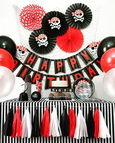 Pirate Party Theme, Pirate Birthday Party Decorations, Pirate Party Package, Pirate Party Kit by SparklyPartyKit on Etsy Pirate Party Decorations, Pirate Decor, Pirate Theme, Pirate Birthday, Boy Birthday Parties, 4th Birthday, History Of Birthdays, Sailing Party, Jack Sparrow
