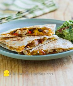 Chicken Chili Quesadillas - for game day and any day