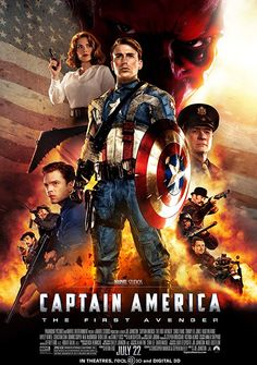 Captain America: The First Avenger is a 2011 action/adventure based on the Marvel Comics character Captain America, produced by Marvel Studios, and directed … Marvel Movie Posters, Avengers Poster, Avengers Movies, Marvel Movies, Marvel Avengers, Marvel Order, Avengers 2012, Teen Movies, Superhero Movies