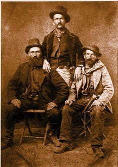 A good example of the gear and dress of the Rangers at San Elizario is this circa 1878 photo of Texas Rangers Andy and Tom Zickefoose, with an unidentified man in the middle. This is the only known photo taken of Salt War Rangers.