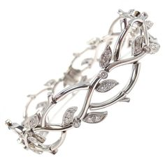"Tiffany and Co. diamond and platinum bracelet ""garland collection"""