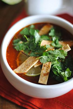 Chipotle Chicken Tortilla Soup - Eat Yourself Skinny