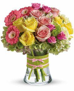 Fashionista Blooms Flowers, Fashionista Blooms Flower Bouquet - Teleflora.com