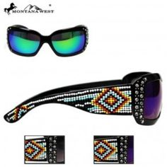 AZTEC HAND-BEADED SUNGLASS  See more at http://www.montanawest.ca/collections/sunglasses