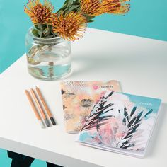 Local Queensland artist Thom Stuart painted these exclusive designs for our Summer Collection. These sustainable, recycled notebooks are perfect for jotting down dreams and to-dos. A5 Notebook, Color Blocking, Stationery, Artist, Prints, Notebooks, Collection, Shop, Paper Mill