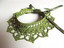 Náhrdelníky - Zelený írsky... - 1671586