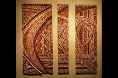 Grove Wine Bar wall display of wine cork art