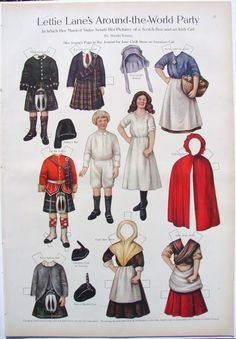PAPER DOLL LETTIE LANE 1911 #1163