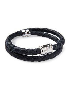 Men\'s Woven Leather Bracelet by Miansai at Neiman Marcus.