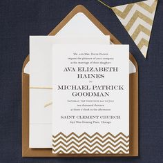 guest bedroom color palet - gold chevron, white, and navy