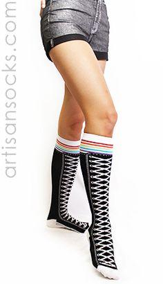 Knee High Sneaker Socks.  I need these!