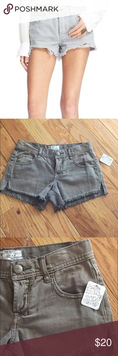 NWT FREE PEOPLE Cut Off Shorts  Brand New With tags. Free People Cut Off Shorts in grey. Retails for $68!  Free People Shorts
