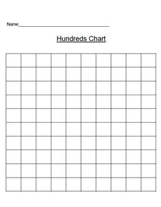 Blank  Chart  Printable Blank  Hundreds Chart  New
