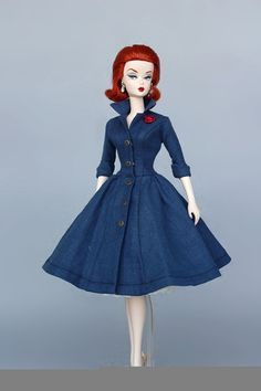 Dress Pattern pdf download for your Silkstone barbie by Sanglian