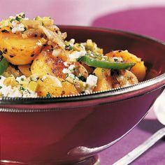 Ein erfrischend leichtes Kartoffelsalatrezept, kräftig mit orientalischen Gewürzen abgeschmeckt.