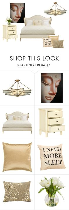 """white and gold"" by anabelvalentina on Polyvore featuring interior, interiors, interior design, hogar, home decor, interior decorating, Surya y Mina Victory"