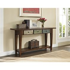 Altra Hand-painted Sage Console Table and Drawers | Overstock™ Shopping - Great Deals on Altra Coffee, Sofa & End Tables 31.97x63.98x14.96 $288.12