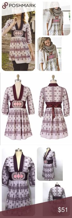 Selling this Odd Molly Four Continent Cross Stitch Tunic Dress on Poshmark! My username is: jeannemichelle. #shopmycloset #poshmark #fashion #shopping #style #forsale #Odd Molly #Dresses & Skirts