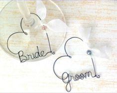 Items similar to Personalized Engagement Gift, Bride and Groom Gift, Personalized Wedding Favors, Personalized Wine Glass Charms on Etsy Bridesmaid Gifts Unique, Personalized Bridesmaid Gifts, Personalized Wine, Wedding Gifts For Bride And Groom, Rustic Wedding Favors, Personalized Engagement Gifts, Bridal Shower Wine, Wine Glass Charms, Place Card