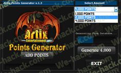 Artix Points Generator - we-hack.com - Home of Hacks
