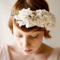 sweetly  floral bridal head piece by whichgoose on Etsy